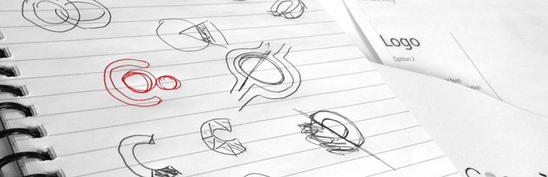 Initial ideas hand drawen for Pipline Logo
